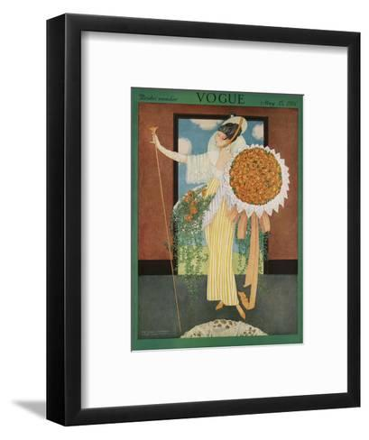 Vogue Cover - May 1914-George Wolfe Plank-Framed Art Print