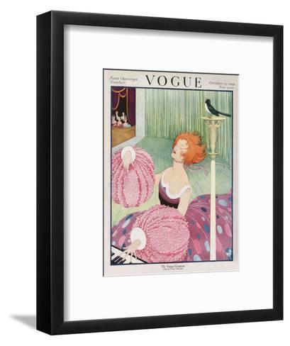 Vogue Cover - October 1919-George Wolfe Plank-Framed Art Print