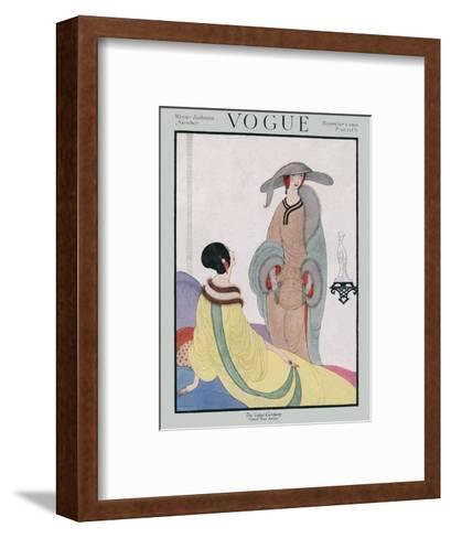 Vogue Cover - November 1919-Helen Dryden-Framed Art Print