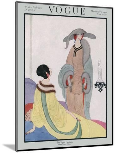 Vogue Cover - November 1919-Helen Dryden-Mounted Premium Giclee Print