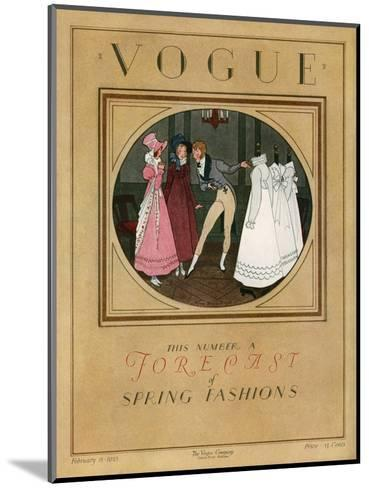 Vogue Cover - February 1923-Pierre Brissaud-Mounted Premium Giclee Print