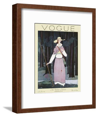 Vogue Cover - July 1924-Georges Lepape-Framed Art Print