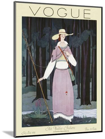 Vogue Cover - July 1924-Georges Lepape-Mounted Premium Giclee Print