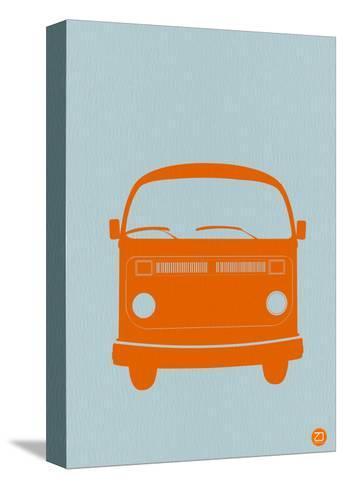 Orange VW Bus-NaxArt-Stretched Canvas Print
