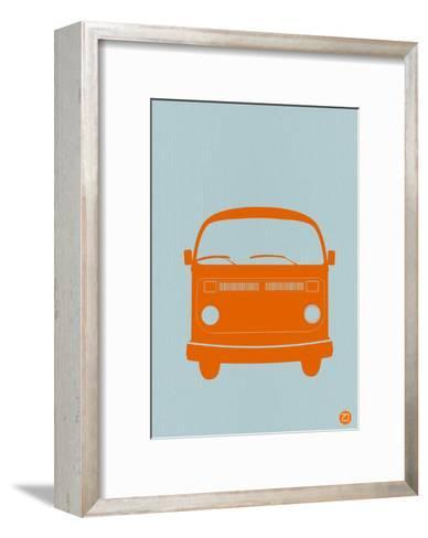 Orange VW Bus-NaxArt-Framed Art Print