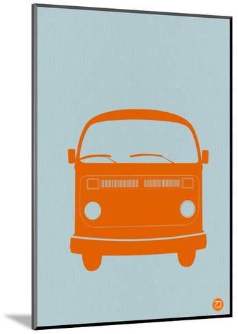 Orange VW Bus-NaxArt-Mounted Art Print