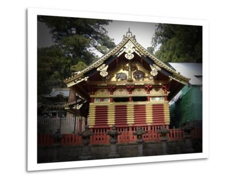 Nikko Architecture With Gold Roof-NaxArt-Metal Print