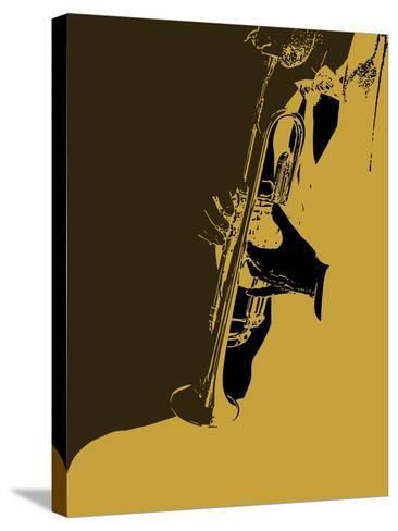 Jazz Orange-NaxArt-Stretched Canvas Print