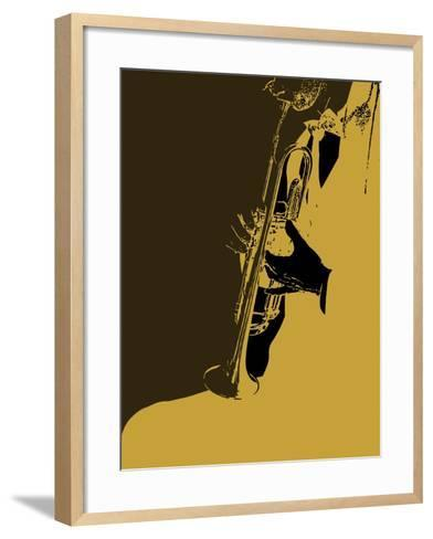Jazz Orange-NaxArt-Framed Art Print