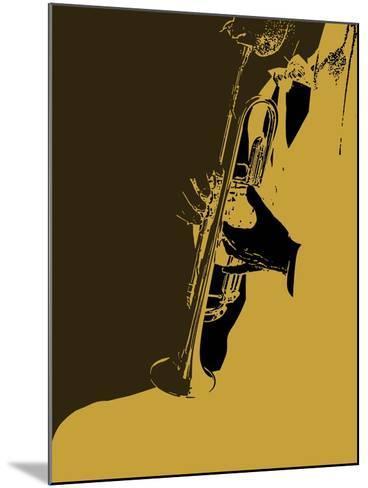 Jazz Orange-NaxArt-Mounted Art Print