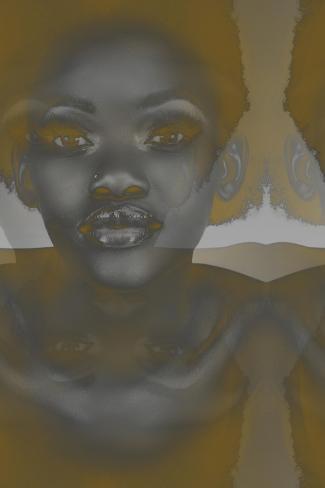 Ebony-NaxArt-Stretched Canvas Print