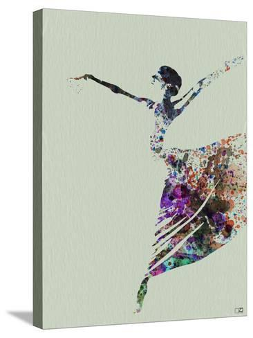 Ballerina Watercolor 3-NaxArt-Stretched Canvas Print