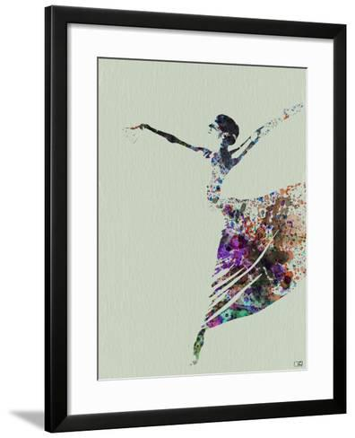 Ballerina Watercolor 3-NaxArt-Framed Art Print