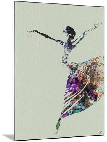 Ballerina Watercolor 3-NaxArt-Mounted Art Print