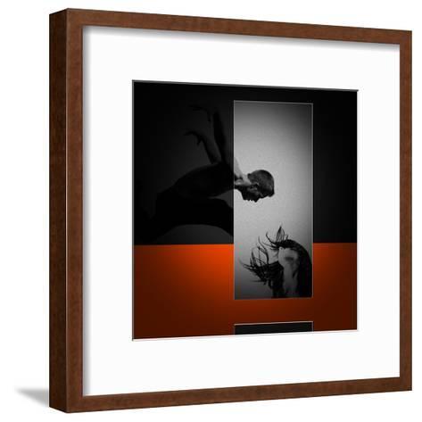 Air Kiss-NaxArt-Framed Art Print
