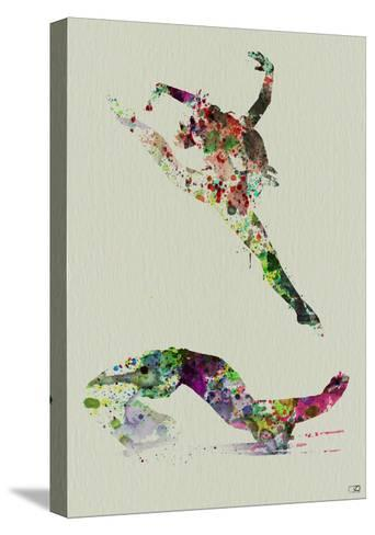 Ballet Watercolor 3-NaxArt-Stretched Canvas Print