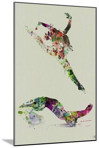 Ballet Watercolor 3-NaxArt-Mounted Art Print