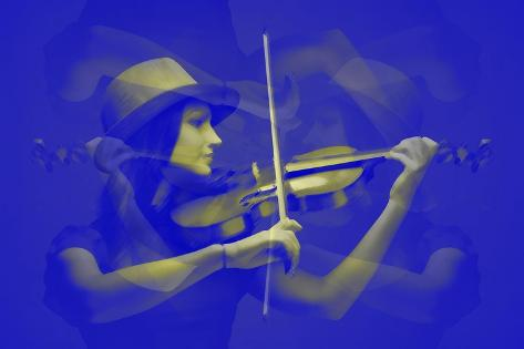 Violinist-NaxArt-Stretched Canvas Print