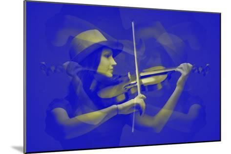 Violinist-NaxArt-Mounted Art Print
