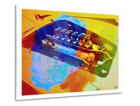 Ferrari Engine Watercolor-NaxArt-Metal Print