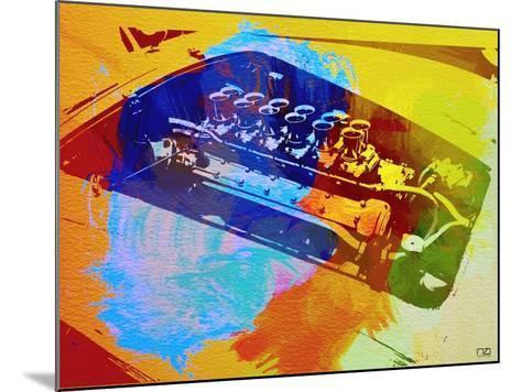 Ferrari Engine Watercolor-NaxArt-Mounted Art Print