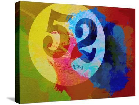 Mclaren Watercolor-NaxArt-Stretched Canvas Print