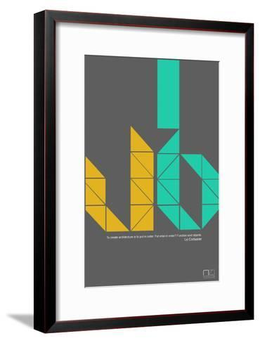 Le Corbusier Quote-NaxArt-Framed Art Print