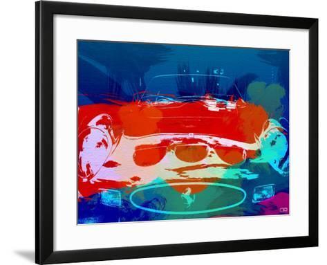 Ferrari 250 Gto Watercolor-NaxArt-Framed Art Print