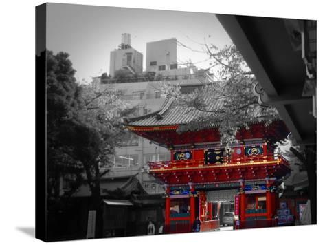 Temple In Tokyo-NaxArt-Stretched Canvas Print