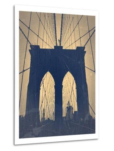 Brooklyn Bridge-NaxArt-Metal Print