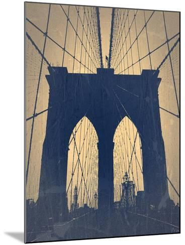 Brooklyn Bridge-NaxArt-Mounted Art Print