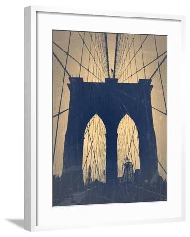 Brooklyn Bridge-NaxArt-Framed Art Print