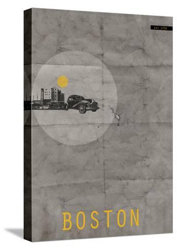 Boston Poster-NaxArt-Stretched Canvas Print