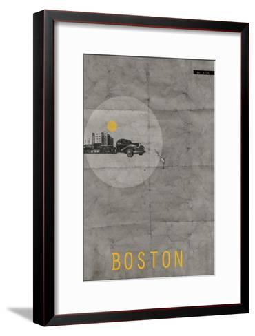 Boston Poster-NaxArt-Framed Art Print