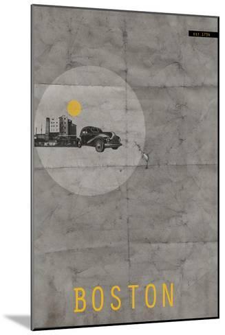 Boston Poster-NaxArt-Mounted Art Print