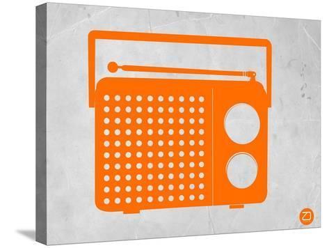 Orange Transistor Radio-NaxArt-Stretched Canvas Print