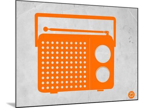 Orange Transistor Radio-NaxArt-Mounted Art Print