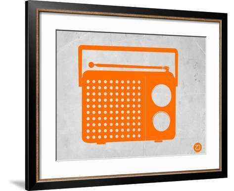 Orange Transistor Radio-NaxArt-Framed Art Print