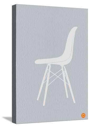 Eames White Chair-NaxArt-Stretched Canvas Print