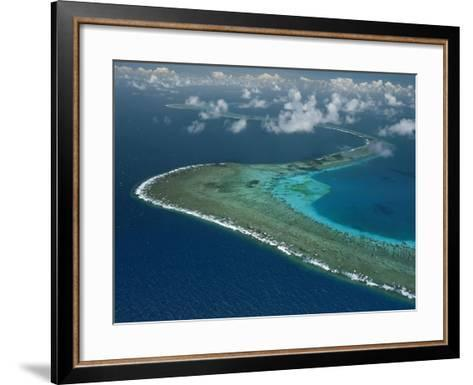 Wide Ribbons of Coral Divide the Continental Shelf From Deep Waters-David Doubilet-Framed Art Print