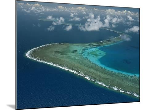 Wide Ribbons of Coral Divide the Continental Shelf From Deep Waters-David Doubilet-Mounted Photographic Print