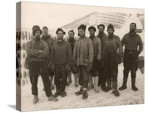 Members of Scott's Expedition Team-Herbert Ponting-Stretched Canvas Print