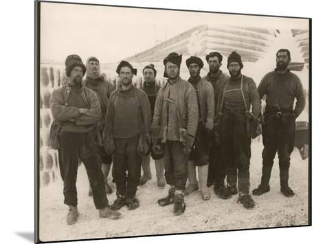 Members of Scott's Expedition Team-Herbert Ponting-Mounted Photographic Print