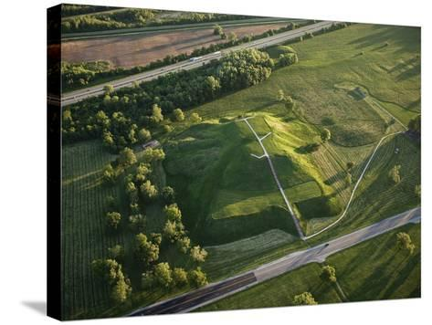 Monks Mound Is the Centerpiece of Cahokia Mounds State Historic Site-Ira Block-Stretched Canvas Print