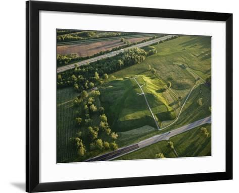 Monks Mound Is the Centerpiece of Cahokia Mounds State Historic Site-Ira Block-Framed Art Print