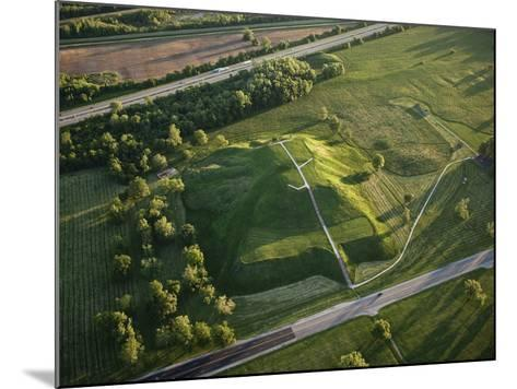 Monks Mound Is the Centerpiece of Cahokia Mounds State Historic Site-Ira Block-Mounted Photographic Print