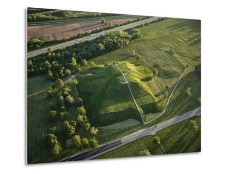 Monks Mound Is the Centerpiece of Cahokia Mounds State Historic Site-Ira Block-Metal Print