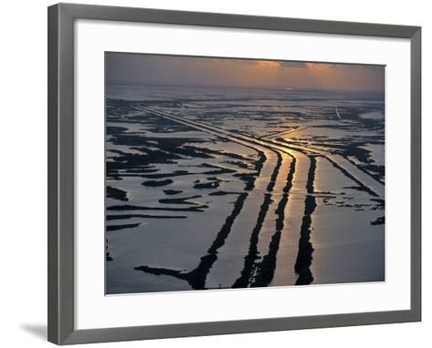 Canals Hold Pipelines That Deliver Oil and Gas From Offshore Wells-Joel Sartore-Framed Art Print