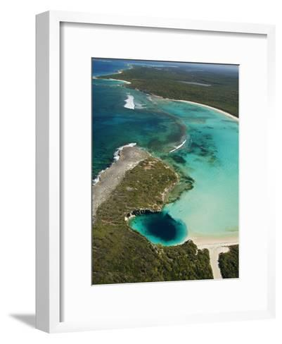 Dean's Blue Hole, Earth's Deepest Known Underwater Cave-Wes C^ Skiles-Framed Art Print