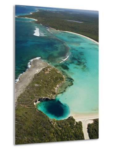 Dean's Blue Hole, Earth's Deepest Known Underwater Cave-Wes C^ Skiles-Metal Print